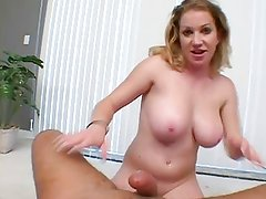 Thick Blonde Bebe Face Fuck & Swallow
