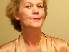 Old Lady Puts On a Lingerie and Imposes a Make-Up