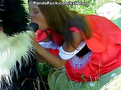 girl sucking huge cock in the woods toy bear