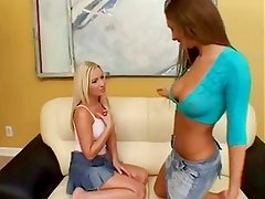 2 girls an a strap-on