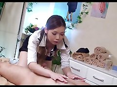 Blouse Collar Up Massage Girl