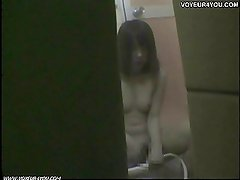 Girl student shower captured by spycam