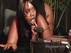 Big Boobs Gothic Slut Nilou does masturbation show