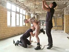 Gay BDSM shit is going on in this porn video