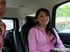 Sexy Kamila Latina takes a dick in her shaved pussy