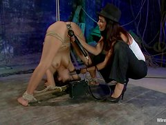 Jynx Maze enjoys getting her pussy fingered and toyed in BDSM scene
