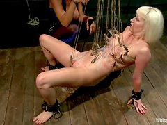 Cherry Torn gets clothespinned and toyed by Felony