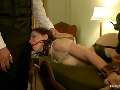 Dylan Ryan and Juliette March get restrained and mouth-fucked