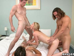Nice Tysen Rich gets fucked by three big cocked guys