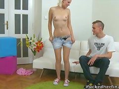 Daryna the slim blonde teen gets fucked like never before