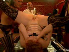 Dirty BDSM style orgy with black cocks and bunch of filthy sluts