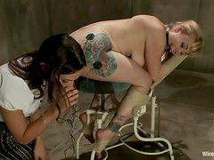 Adrianna Nicole gets tied up and humiliated by Amber Rayne