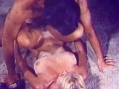 Blonde with big natural tits fucked in the retro scene
