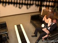 Japanese Yuria Ashina in Sexy Playmate Costume Fucked in Hidden Cam Vid