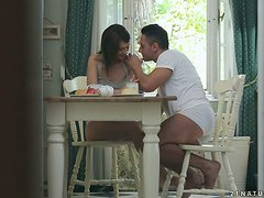 Incredibly Hot Sex During Breakfast with Stunning Alexis Brill