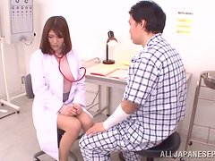 Naughty Japanese Doctor Giving a Blowjob and Getting Fucked by Patient