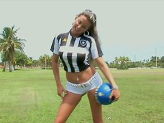 Gigi Sweet Hottest Soccer Referee Sucking and Riding Cock