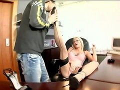 Stacy Silver has multiposition sex after giving a blowjob