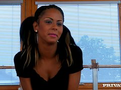 Isabella Chrystin  blows and gets her black coochie smashed