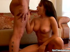 Jenna Presley sucks a fat cock and gets amazingly fucked doggy style