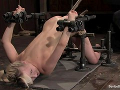 Sexy Ashley Jane gets whipped and fucked with a machine