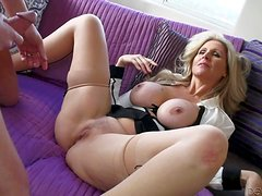 Julia Ann is a sex obsessed big titted mature beauty