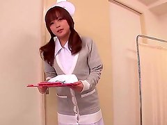 This beautiful Japanese nurse knows whats what in treating men and she got her own way of