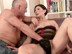 Sex-starved grannie gets her succulent pussy toyed hard