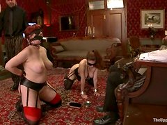 Nerine Mechanique and Iona Grace Forced to Go Lesbian in BDSM Vid