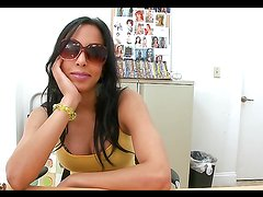 Attractive brunette MILF with big breasts enjoys a hardcore fuck