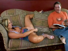 Flower Tucci loves some wild sex on the couch