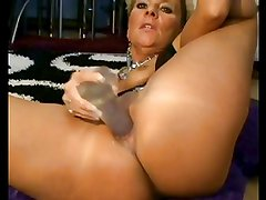 Blonde Milf Enjoys Her Dildo BVR