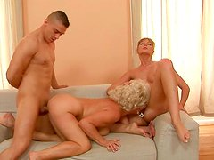 Incredibly horny sluts participate in MMF threesome