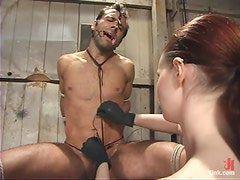 A guy gets tortured and toyed rough by Claire Adams