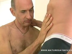 Sexy Daddy breed his friends ass bareback style