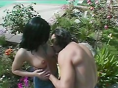 Hot sex in the patio with the hot brunette Belladonna