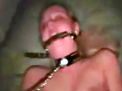 Cute bondage girl solo masturbation