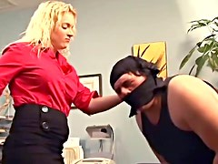 Blowjob and cock abuse in office