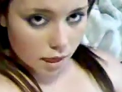 Beautiful curvy girlfriend solo masturbation