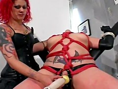 Leather and tattoos in BDSM video
