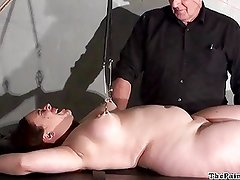 Chubby female torture and nipple clamped bbw bdsm of Nimue