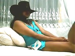 Punjabi Call Girl Dressed As CowGirl With Her Customer