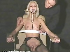 Blonde bondage babe Wynter tortured and humiliated