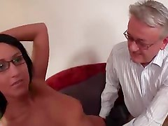 Young college girl fucked by old man