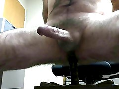 5 min of dildo riding followed by hands free cumshot 74