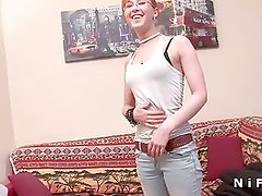 Big cock in the ass for a french redhead teen