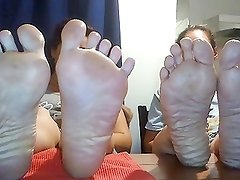 2 Ladies Showing Their Thick, Wrinkled Soles