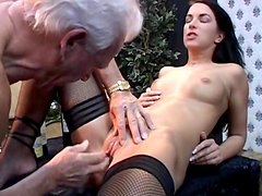 Clarissa fuck with old dick of Johan