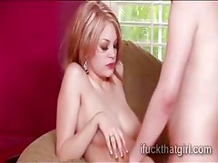 Horny blondie Bree Daniels gets pumped hard and deep on the couch