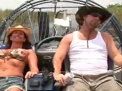 Sexy milf spills her hunger on the boat with her boyfriend